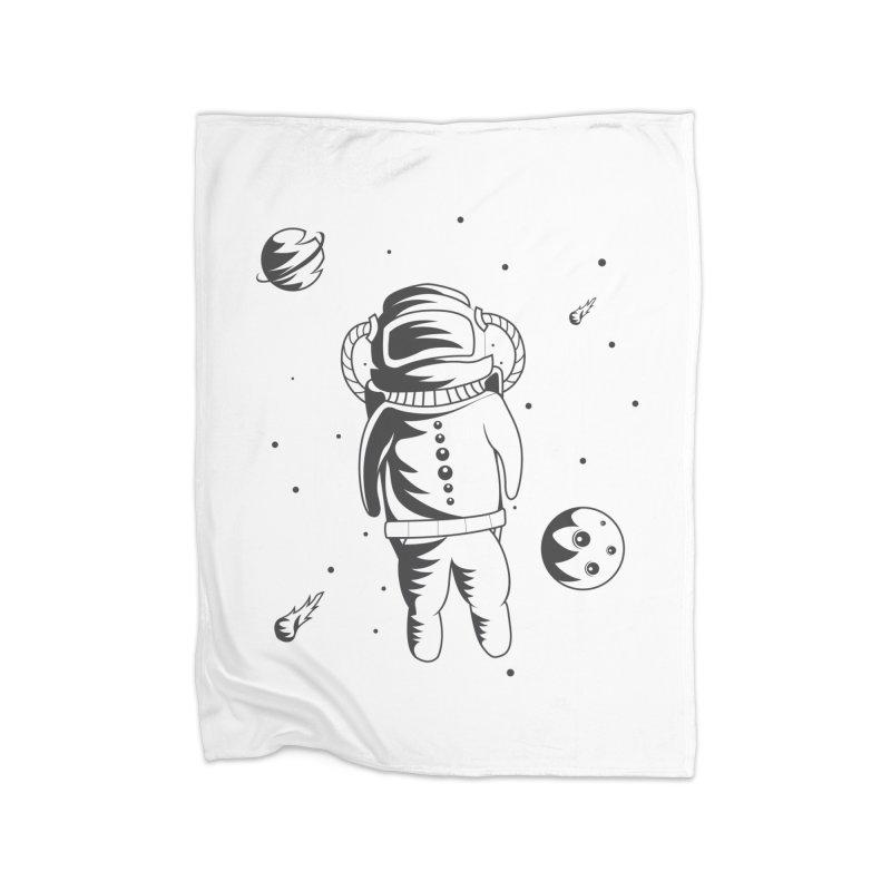 Cosmonaut in Space Home Fleece Blanket Blanket by Pbatu's Artist Shop