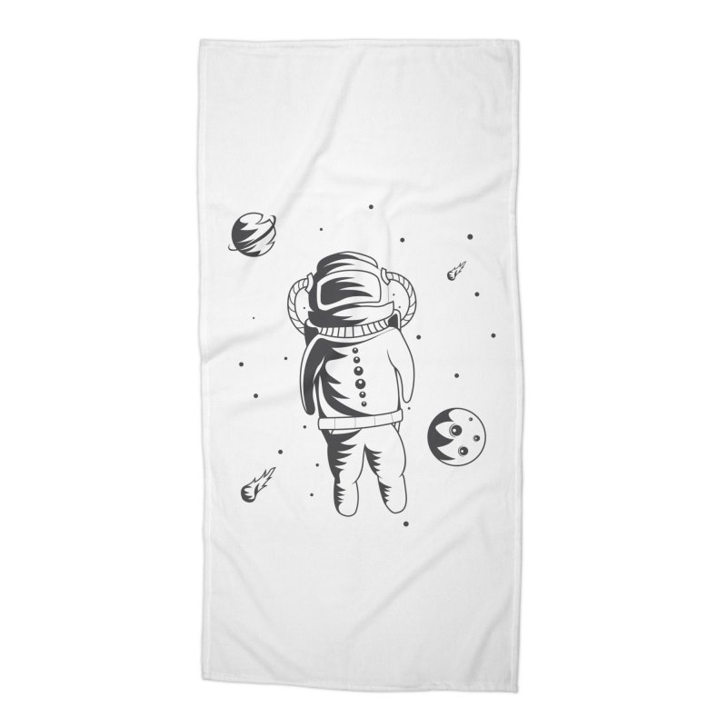 Cosmonaut in Space Accessories Beach Towel by Pbatu's Artist Shop