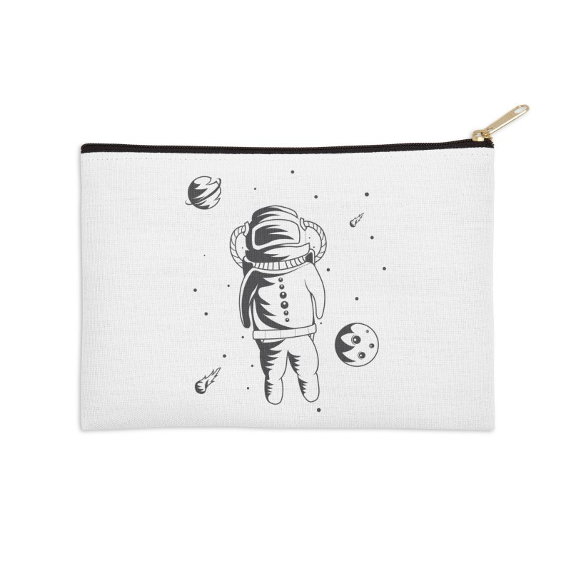 Cosmonaut in Space Accessories Zip Pouch by Pbatu's Artist Shop