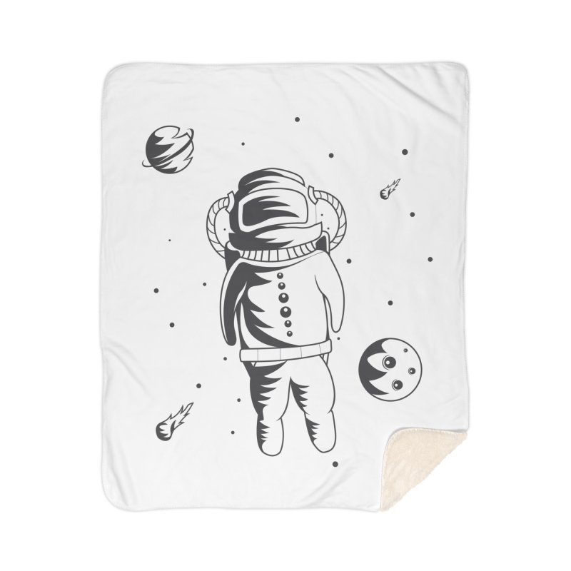 Cosmonaut in Space Home Sherpa Blanket Blanket by Pbatu's Artist Shop