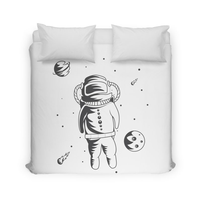 Cosmonaut in Space Home Duvet by Pbatu's Artist Shop