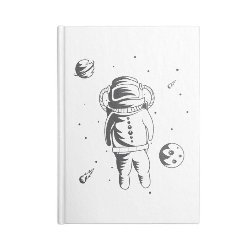 Cosmonaut in Space Accessories Lined Journal Notebook by Pbatu's Artist Shop