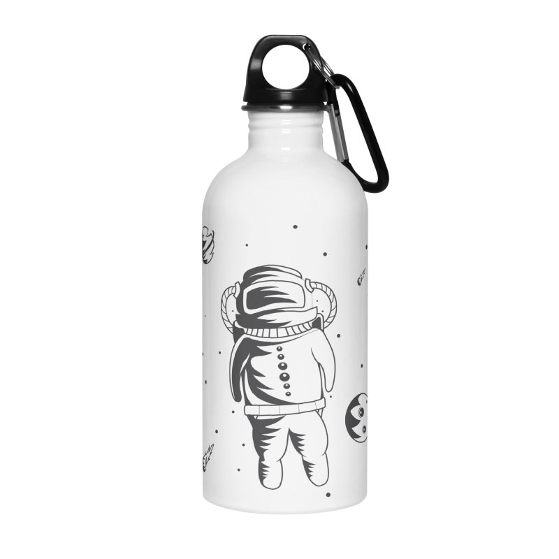 Cosmonaut in Space Accessories Water Bottle by Pbatu's Artist Shop