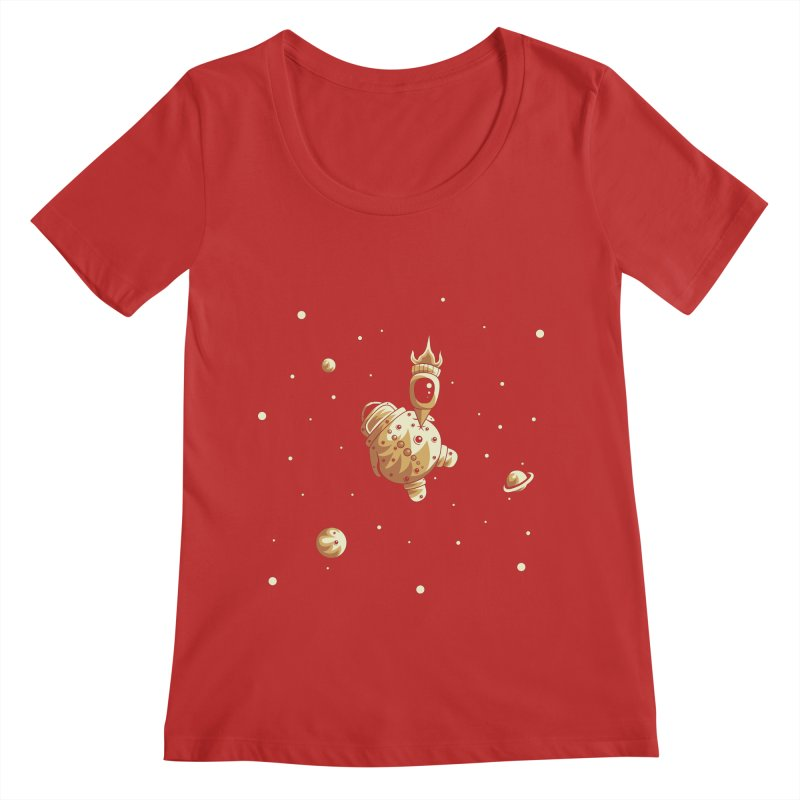 Space exploration Women's Scoop Neck by Pbatu's Artist Shop