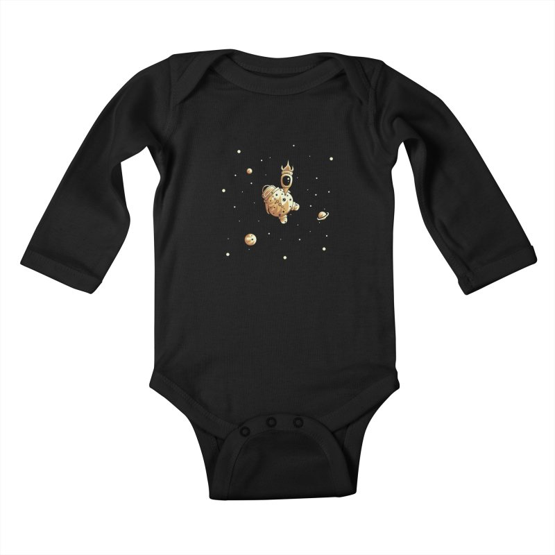 Space exploration Kids Baby Longsleeve Bodysuit by Pbatu's Artist Shop
