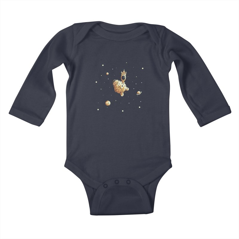 Space exploration Kids Baby Longsleeve Bodysuit by Pbatu's Artist Shop