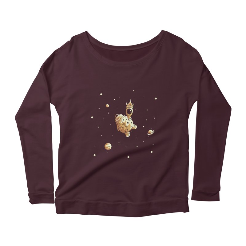 Space exploration Women's Scoop Neck Longsleeve T-Shirt by Pbatu's Artist Shop