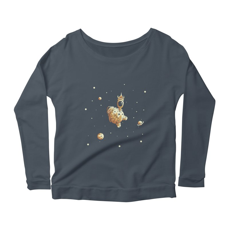 Space exploration Women's Scoop Neck Longsleeve T-Shirt by Pbatu's Artist Shop