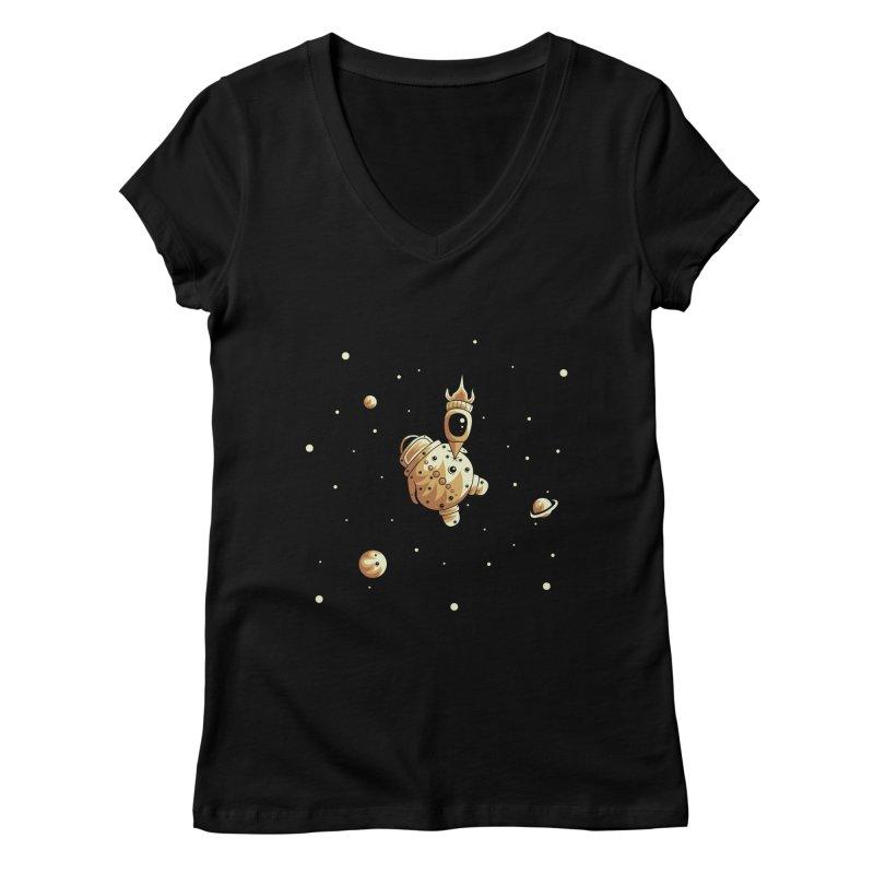 Space exploration Women's V-Neck by Pbatu's Artist Shop