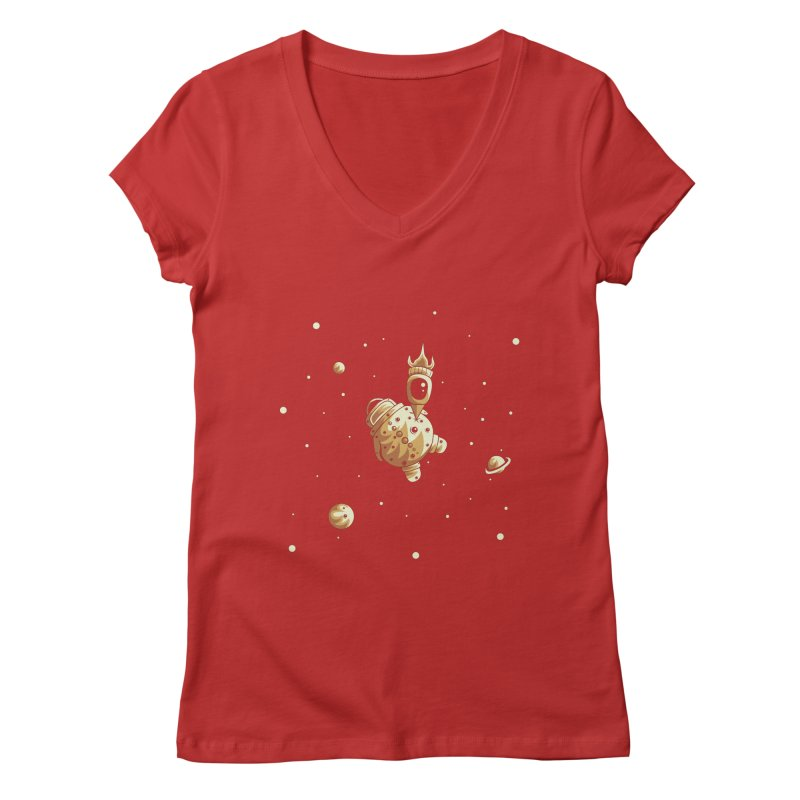 Space exploration Women's Regular V-Neck by Pbatu's Artist Shop