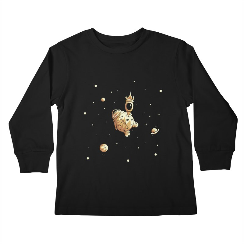 Space exploration Kids Longsleeve T-Shirt by Pbatu's Artist Shop
