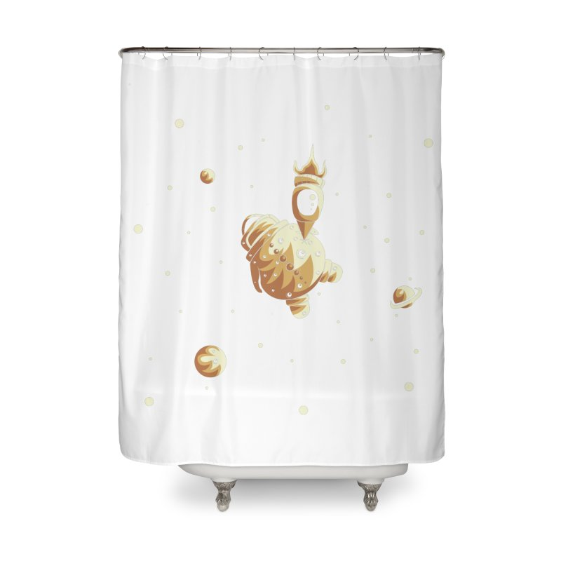 Space exploration Home Shower Curtain by Pbatu's Artist Shop