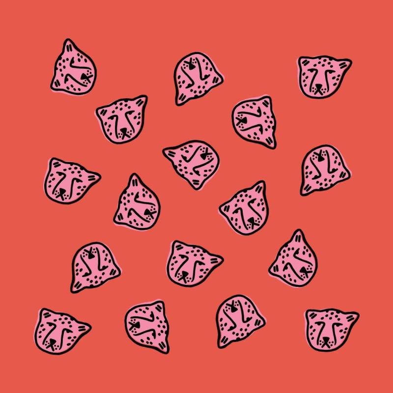 Pink Cheetahs Home Throw Pillow by Peach Things Artist Shop