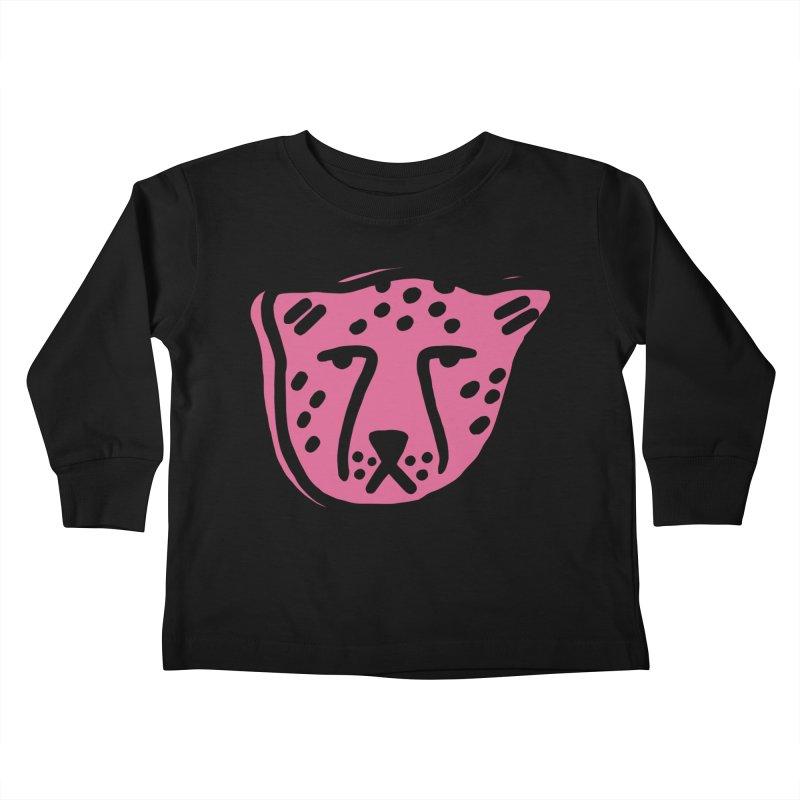 Pink Cheetahs Kids Toddler Longsleeve T-Shirt by Peach Things Artist Shop