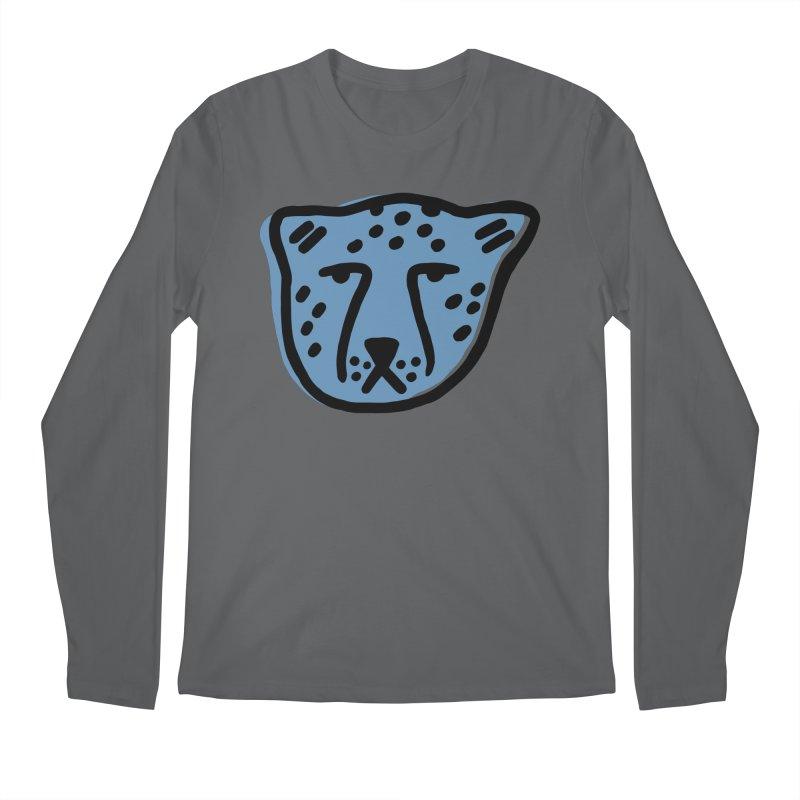 Blue Cheetahs Men's Longsleeve T-Shirt by Peach Things Artist Shop