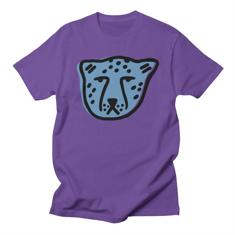 Blue Cheetahs Men's T-Shirt by Peach Things Artist Shop