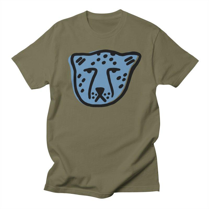 Blue Cheetahs Men's T-Shirt by Peach Things Artist Shop
