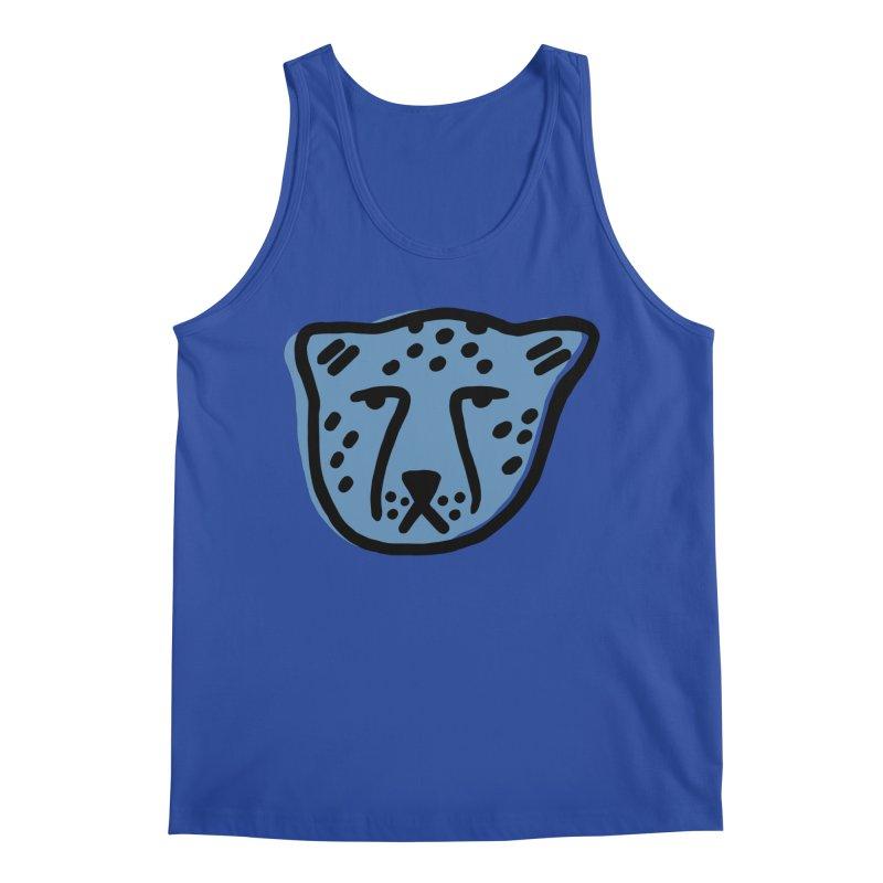 Blue Cheetahs Men's Tank by Peach Things Artist Shop