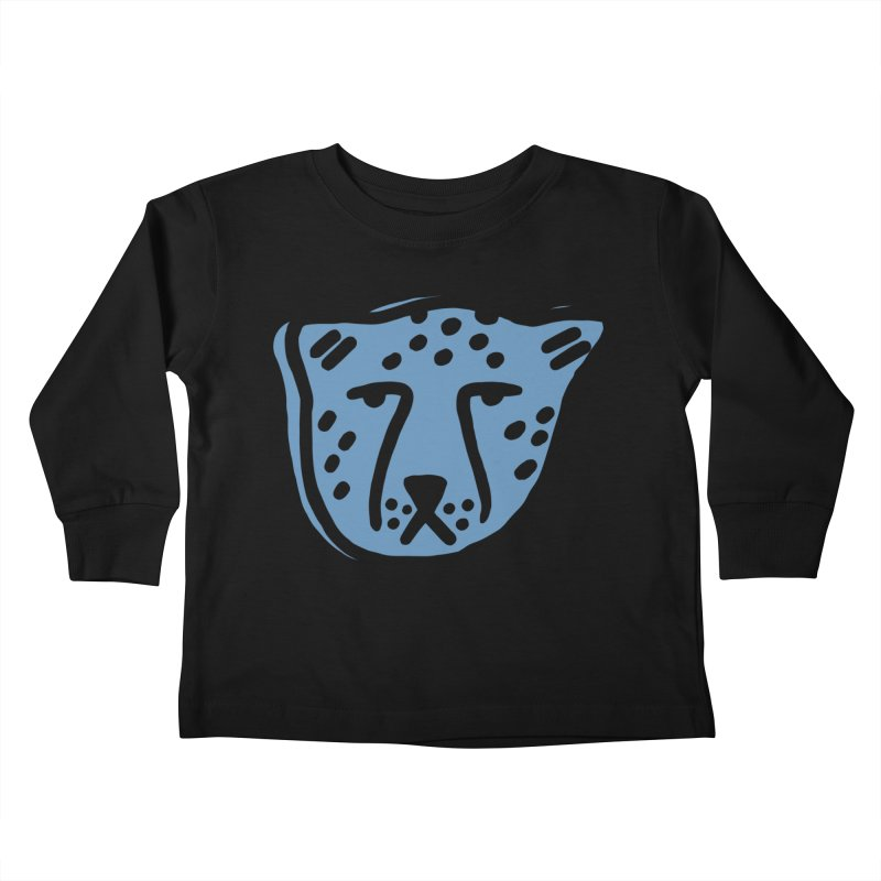 Blue Cheetahs Kids Toddler Longsleeve T-Shirt by Peach Things Artist Shop