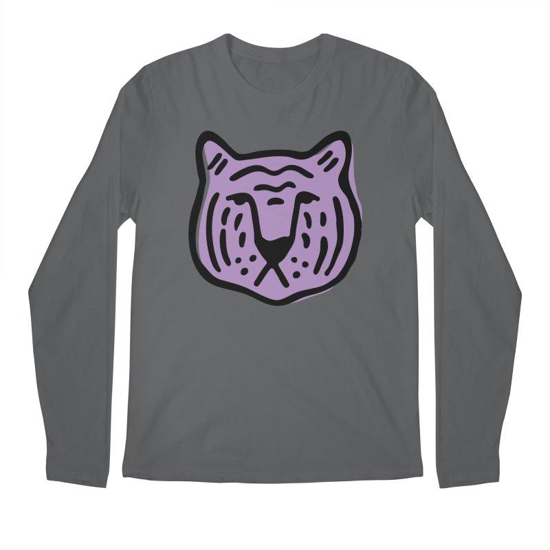Purple Tigers Men's Longsleeve T-Shirt by Peach Things Artist Shop