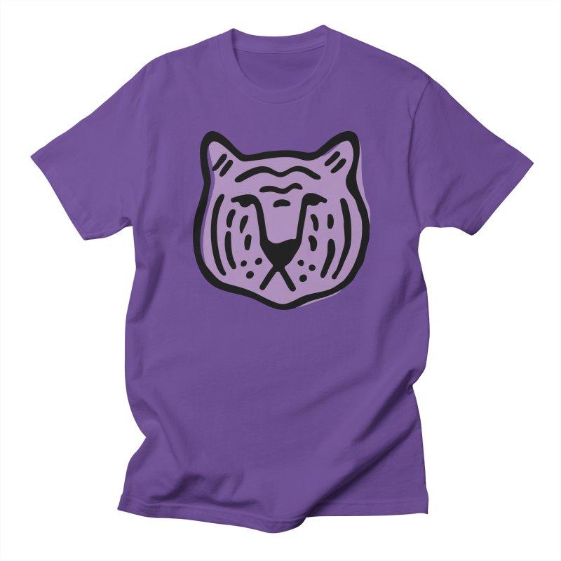 Purple Tigers Men's T-Shirt by Peach Things Artist Shop