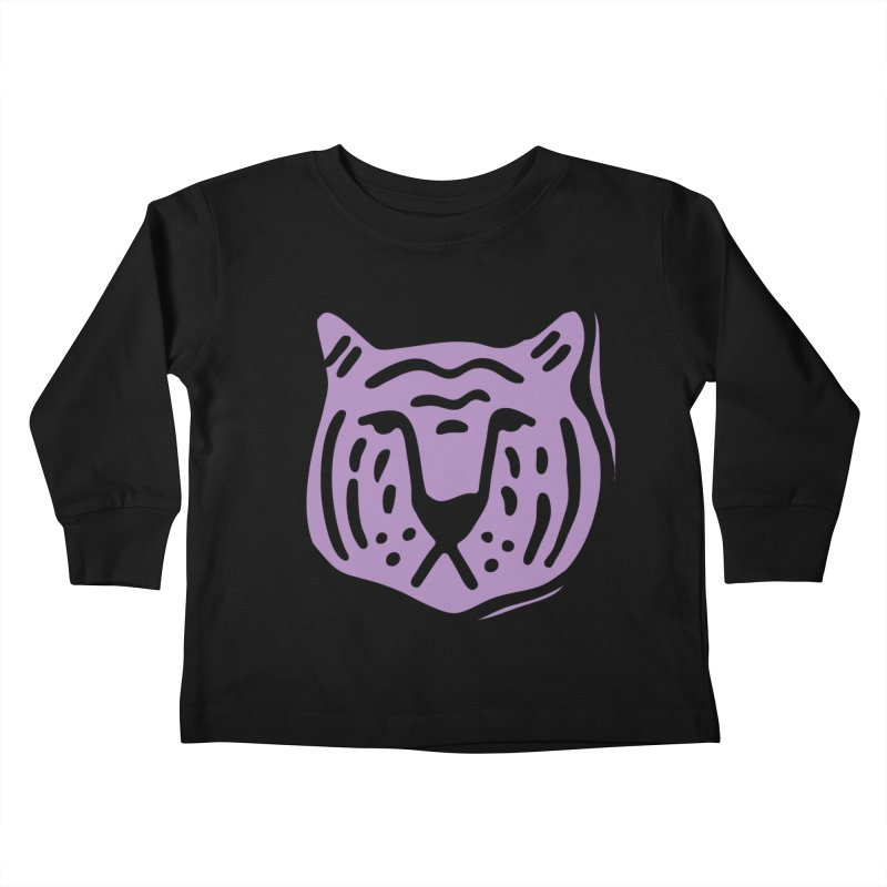 Purple Tigers Kids Toddler Longsleeve T-Shirt by Peach Things Artist Shop