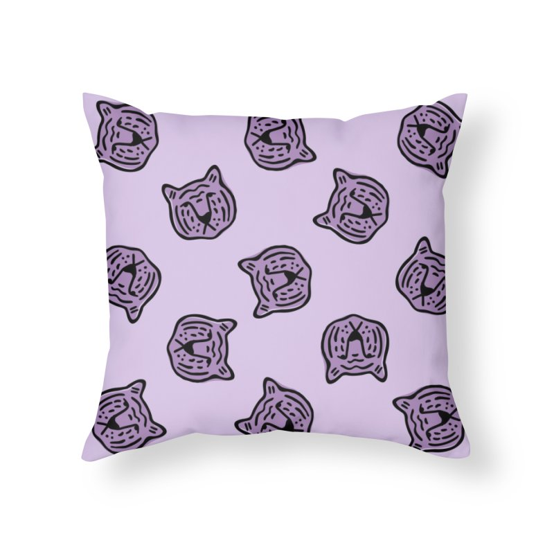 Purple Tigers Home Throw Pillow by Peach Things Artist Shop