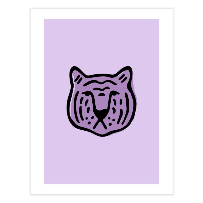 Purple Tigers Home Fine Art Print by Peach Things Artist Shop