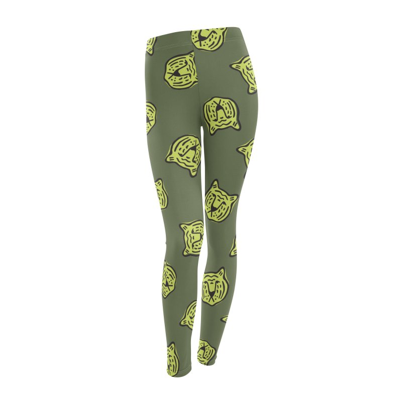 Citron Tigers Women's Bottoms by Peach Things Artist Shop