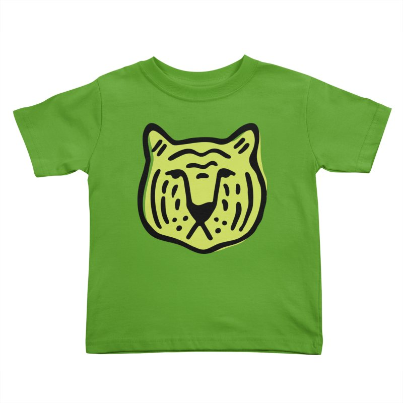 Citron Tigers Kids Toddler T-Shirt by Peach Things Artist Shop