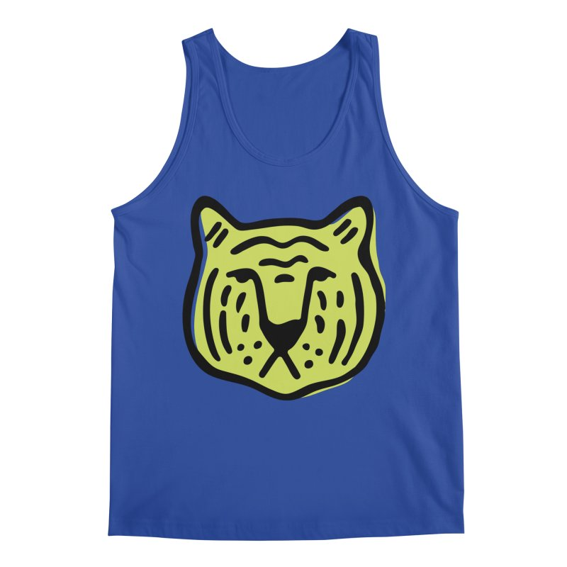 Citron Tigers Men's Tank by Peach Things Artist Shop