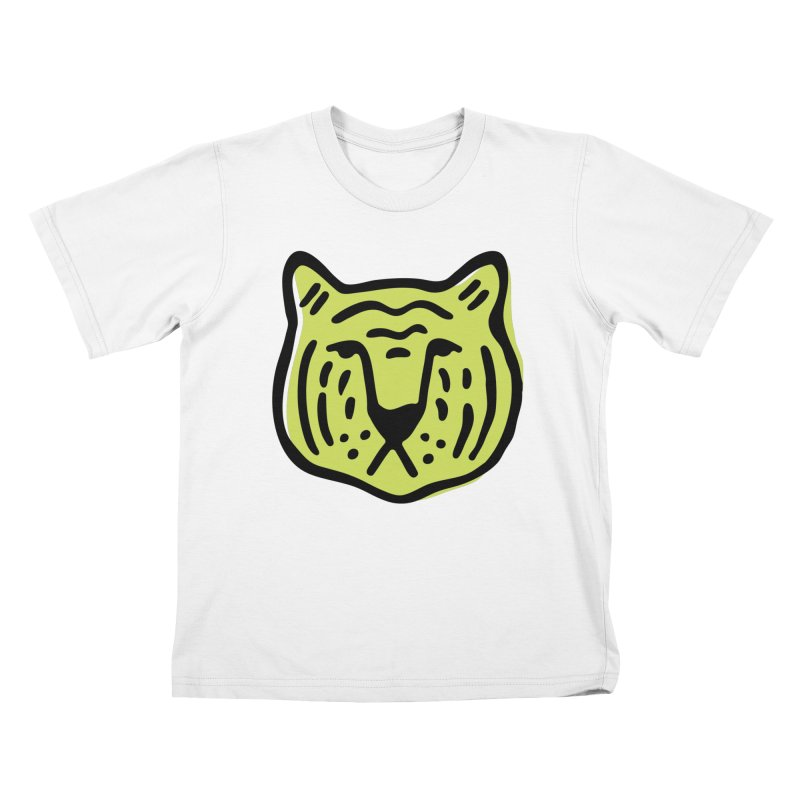 Citron Tigers Kids T-Shirt by Peach Things Artist Shop