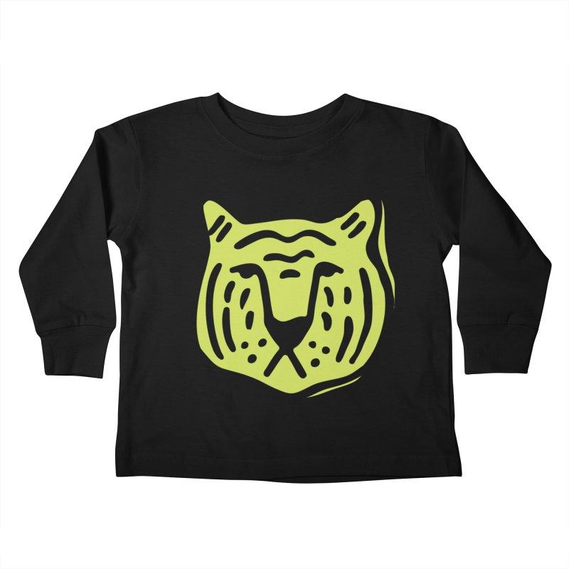 Citron Tigers Kids Toddler Longsleeve T-Shirt by Peach Things Artist Shop