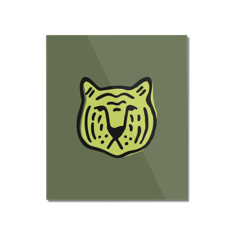 Citron Tigers Home Mounted Acrylic Print by Peach Things Artist Shop