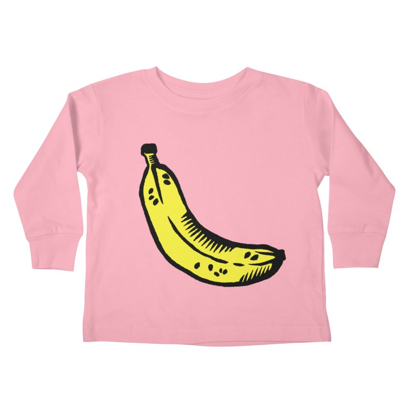 Bananas Kids Toddler Longsleeve T-Shirt by Peach Things Artist Shop