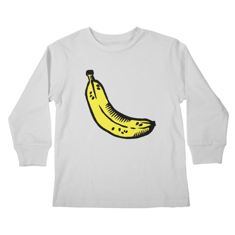 Bananas Kids Longsleeve T-Shirt by Peach Things Artist Shop