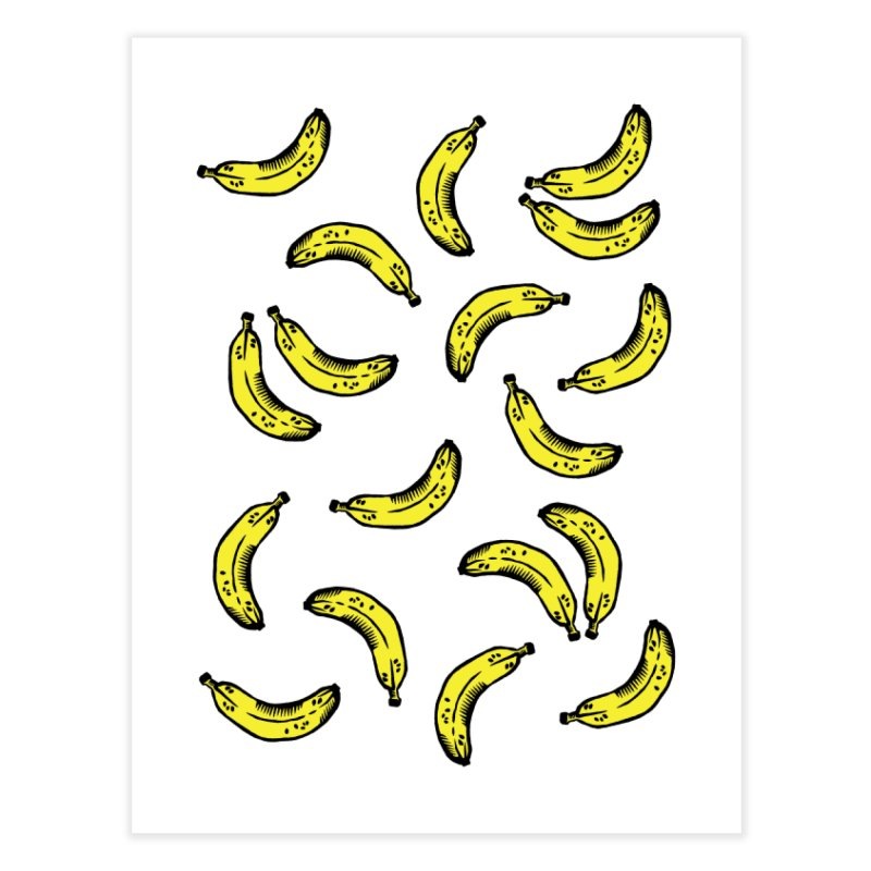 Bananas Home Fine Art Print by Peach Things Artist Shop