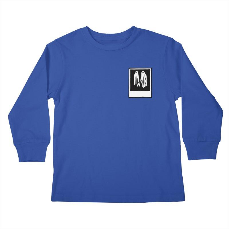Ghost Polaroid Kids Longsleeve T-Shirt by Peach Things Artist Shop
