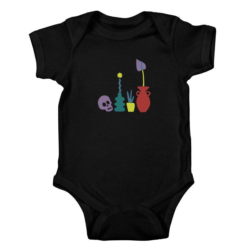 Still Life 1 Kids Baby Bodysuit by Peach Things Artist Shop