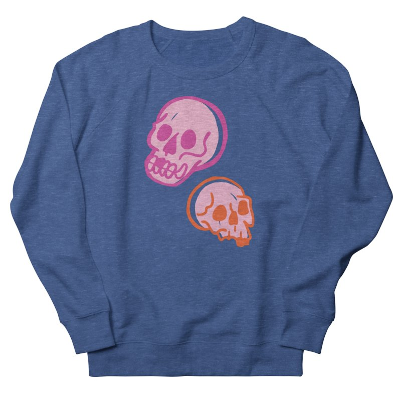 Skulls- Pink and Orange Men's Sweatshirt by Peach Things Artist Shop