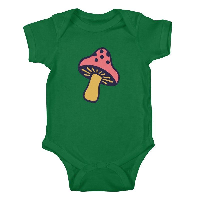 Woodland Toadstool Kids Baby Bodysuit by Peach Things Artist Shop