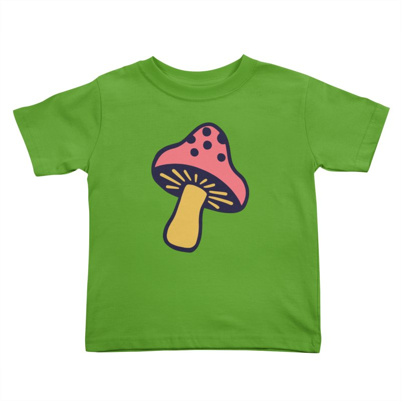 Woodland Toadstool Kids Toddler T-Shirt by Peach Things Artist Shop