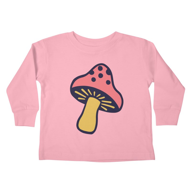 Woodland Toadstool Kids Toddler Longsleeve T-Shirt by Peach Things Artist Shop