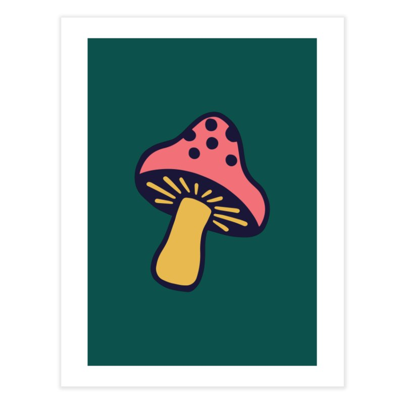 Woodland Toadstool Home Fine Art Print by Peach Things Artist Shop