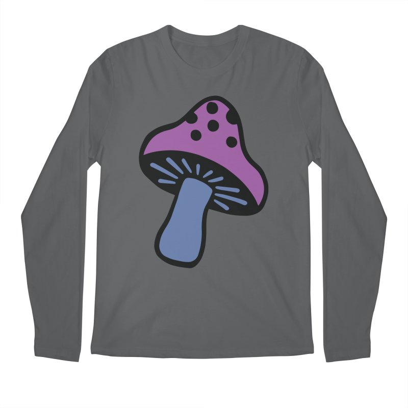 Retro Toadstool Men's Longsleeve T-Shirt by Peach Things Artist Shop