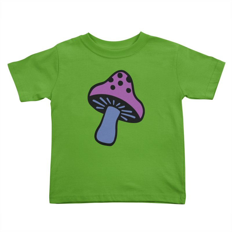 Retro Toadstool Kids Toddler T-Shirt by Peach Things Artist Shop