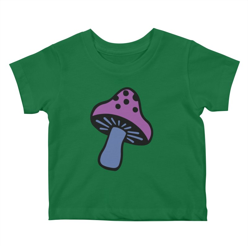 Retro Toadstool Kids Baby T-Shirt by Peach Things Artist Shop