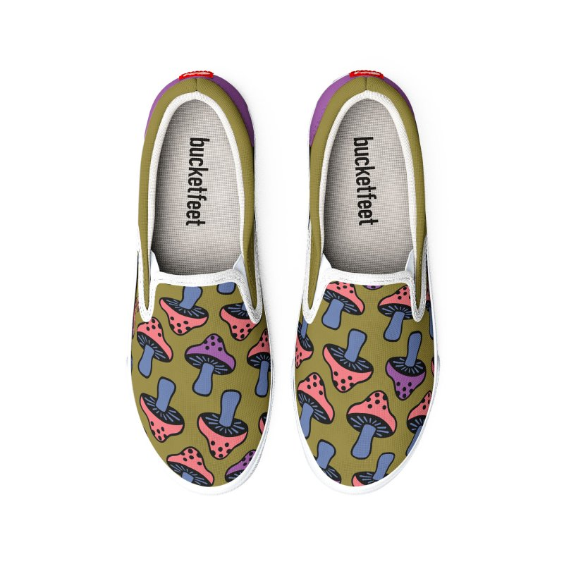 Retro Toadstool Men's Shoes by Peach Things Artist Shop