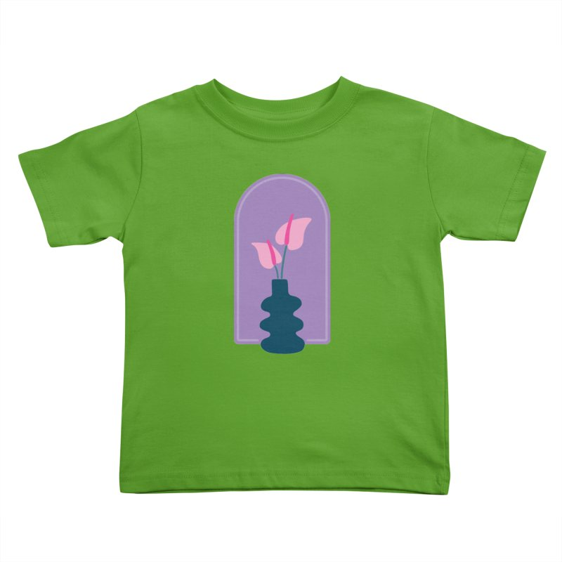 Wiggle Vase Anthurium Kids Toddler T-Shirt by Peach Things Artist Shop