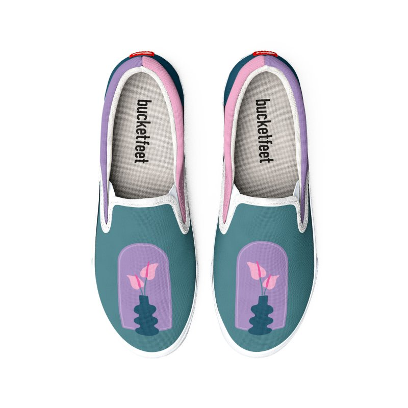 Wiggle Vase Anthurium Women's Shoes by Peach Things Artist Shop